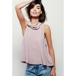 Free People City Lights Cowl Neck Top Small Pink